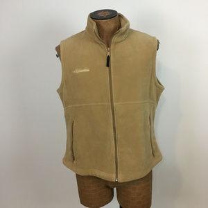 Columbia XL Camel Mocha fleece zip vest
